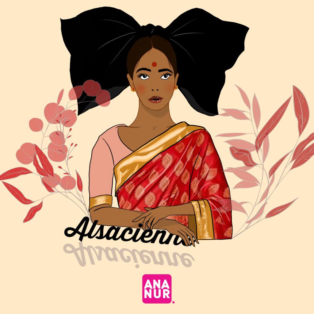 Alsacienne en sari