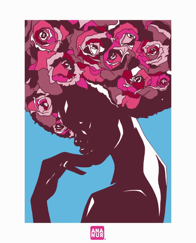 Bouquet de cheveux